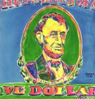 Five Dollar Bill 12x12 / 2000